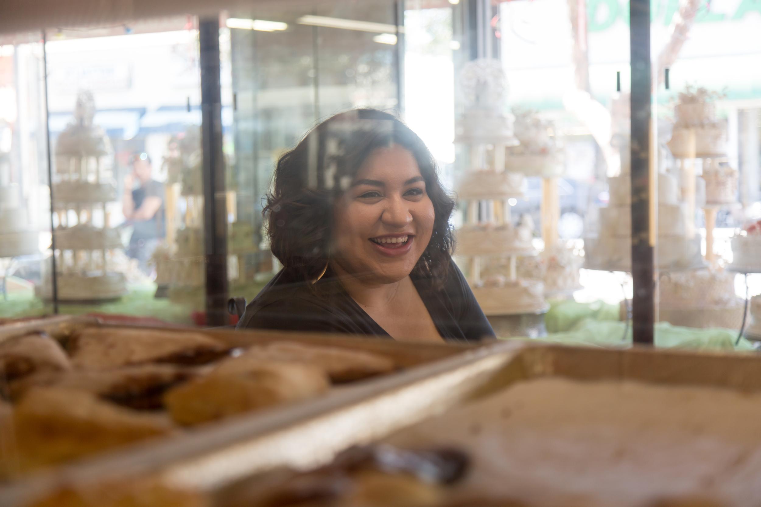 Dorenyse Diaz at El Pueblo Bakery in South Gate.