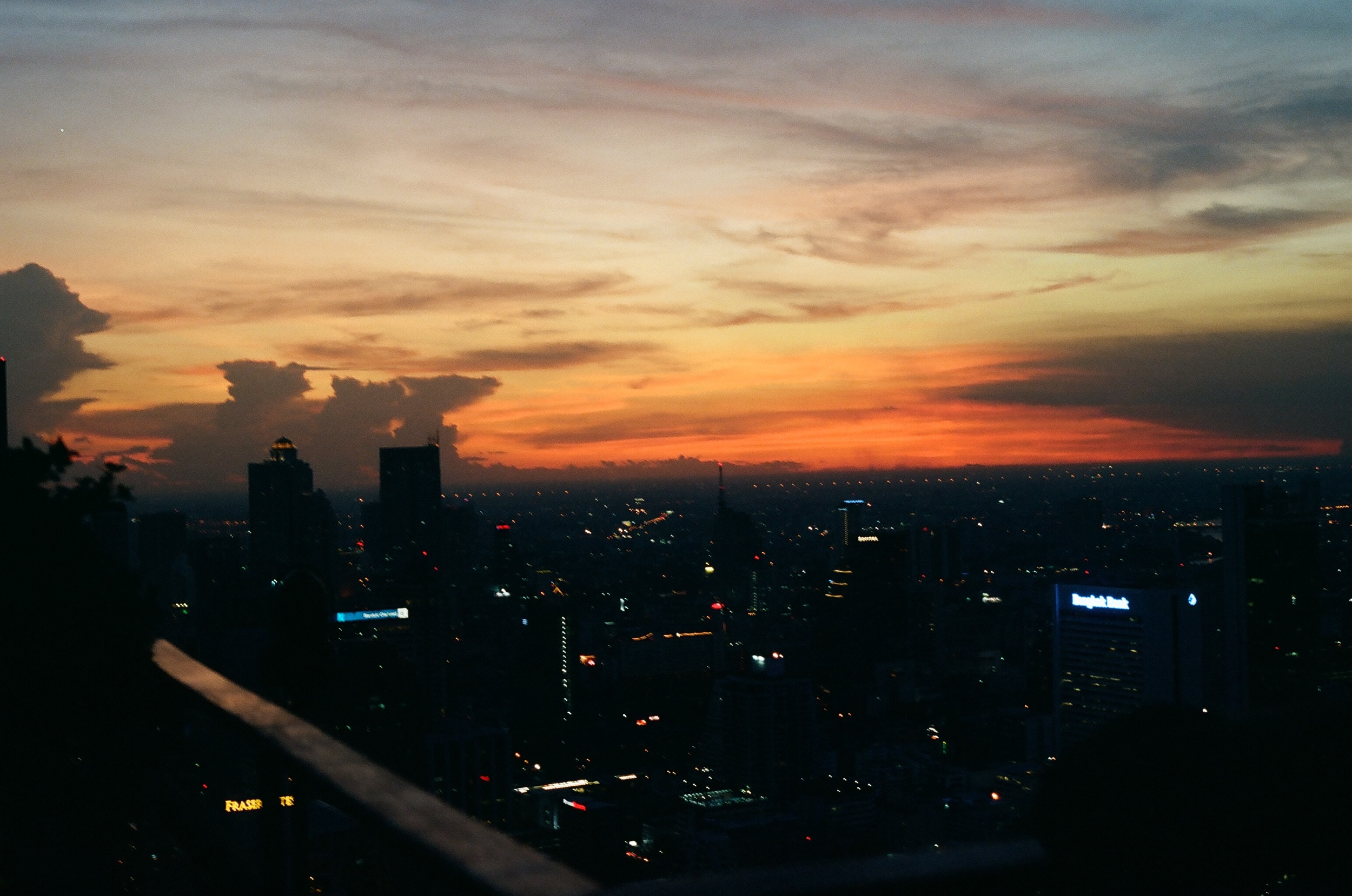 View of Bangkok from 61 stories up on the Moon Bar.