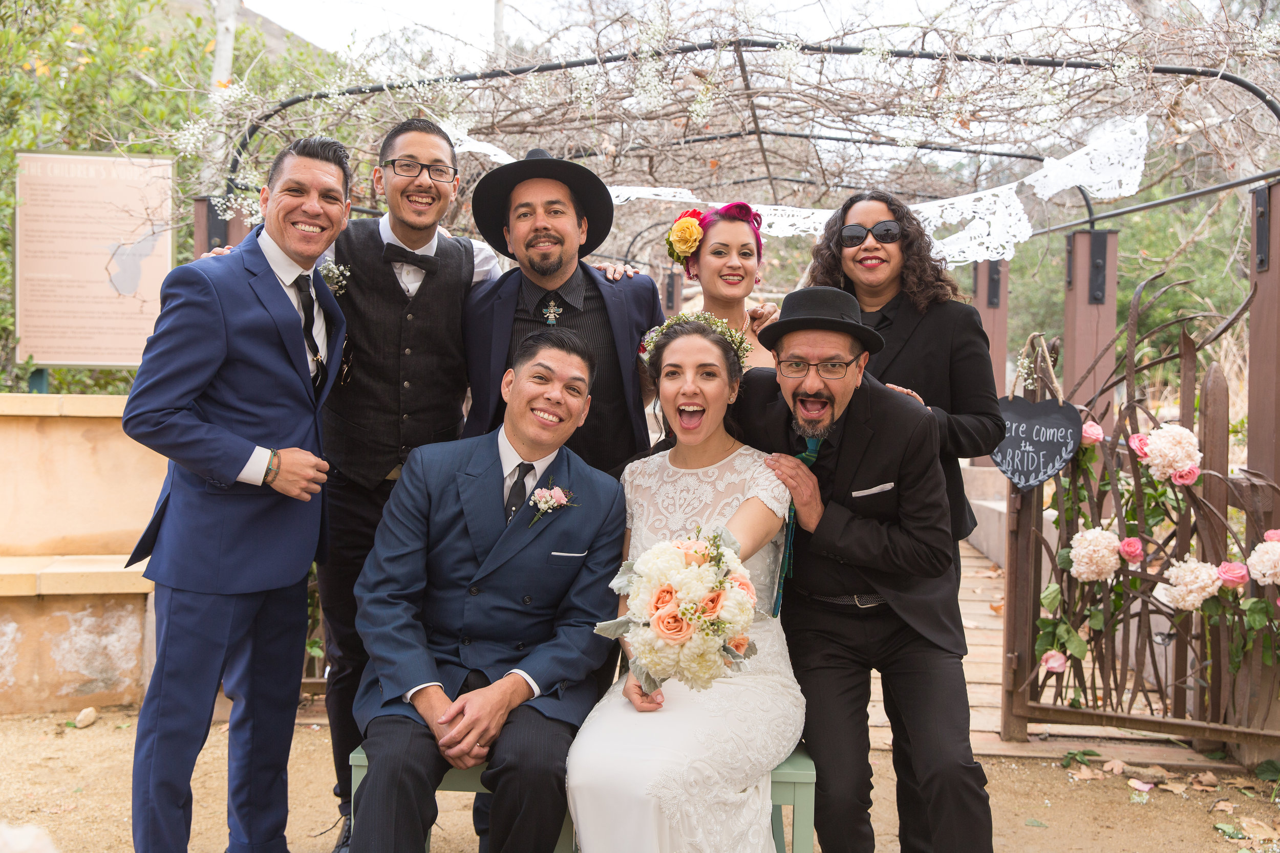 The happy couple happen to be one quarter of  Las Cafeteras .