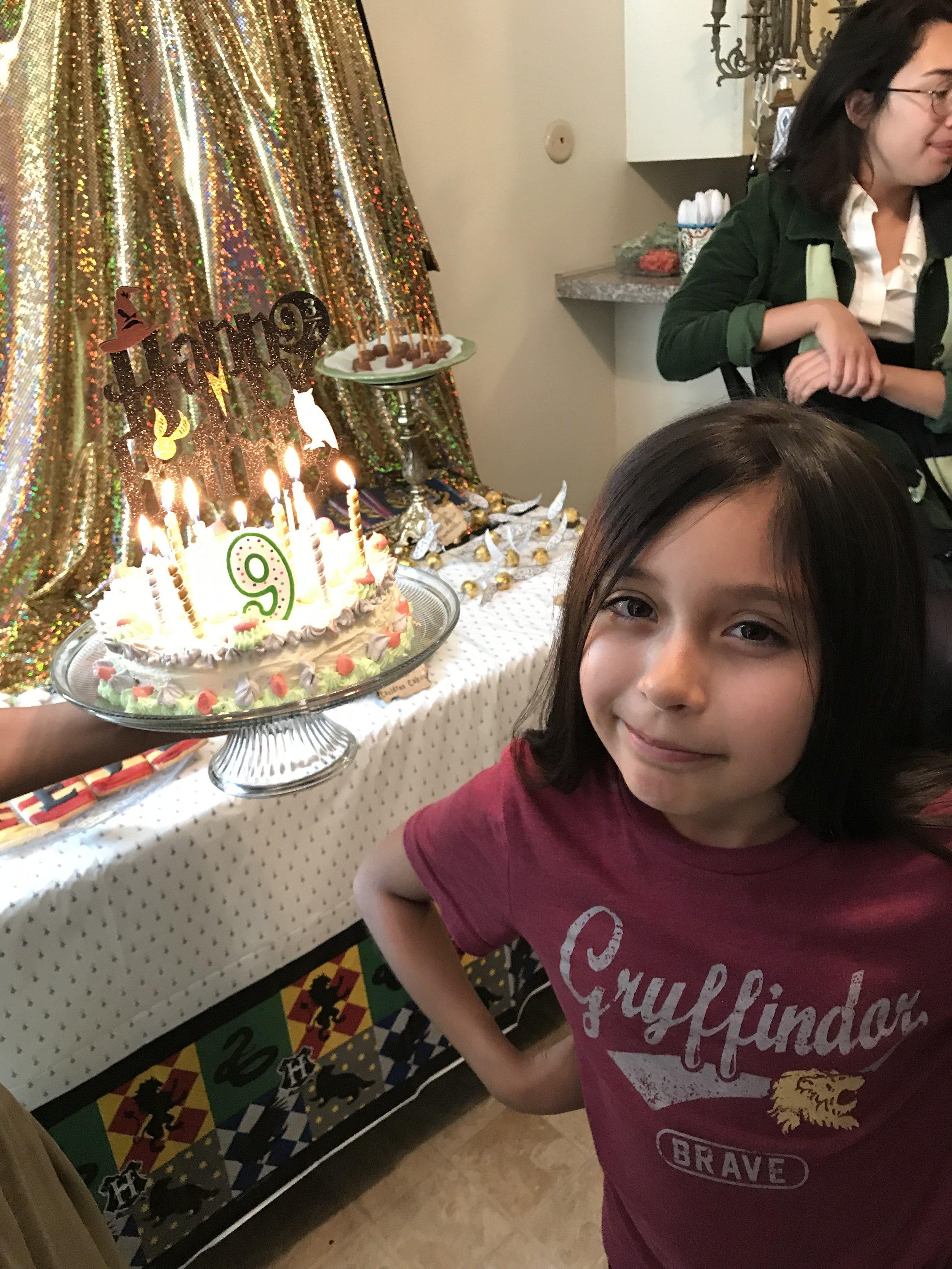 Happy 9th birthday future Gryffindor!