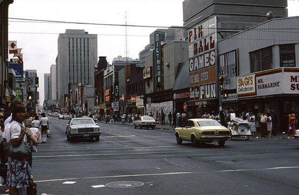 Toronto of my youth (Yonge & Dundas) - image lovingly borrowed from blogTO