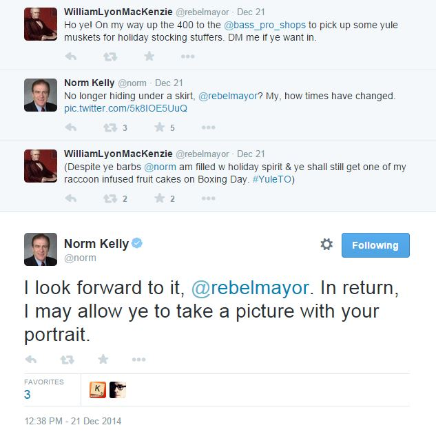 A sassy repartee with the former Deputy Mayor.