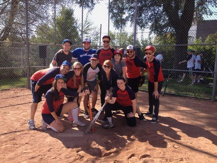What a bunch of supreme cuties - the Bad Dog Softball team in 2013!