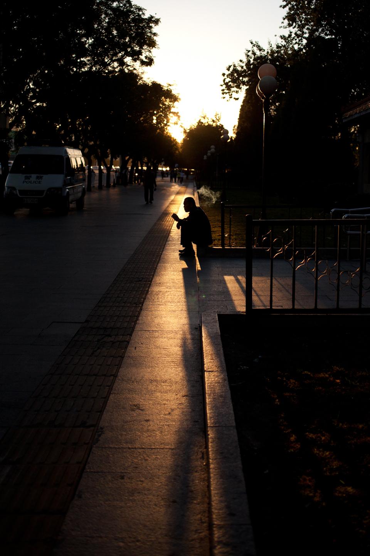 afternoon autumn sun near Dongsi