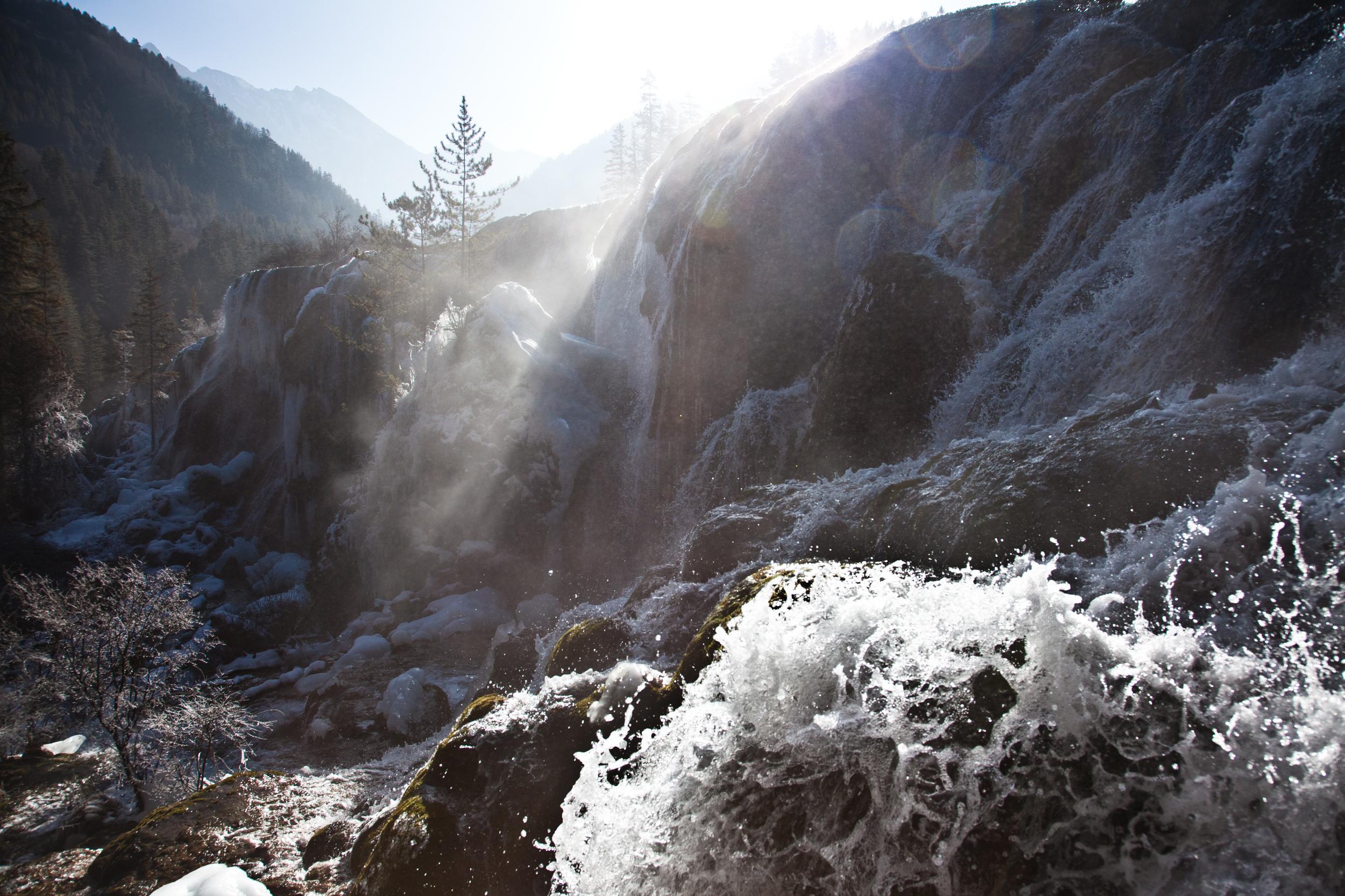 frozen falls, pear fall, Jiuzhaigou national park