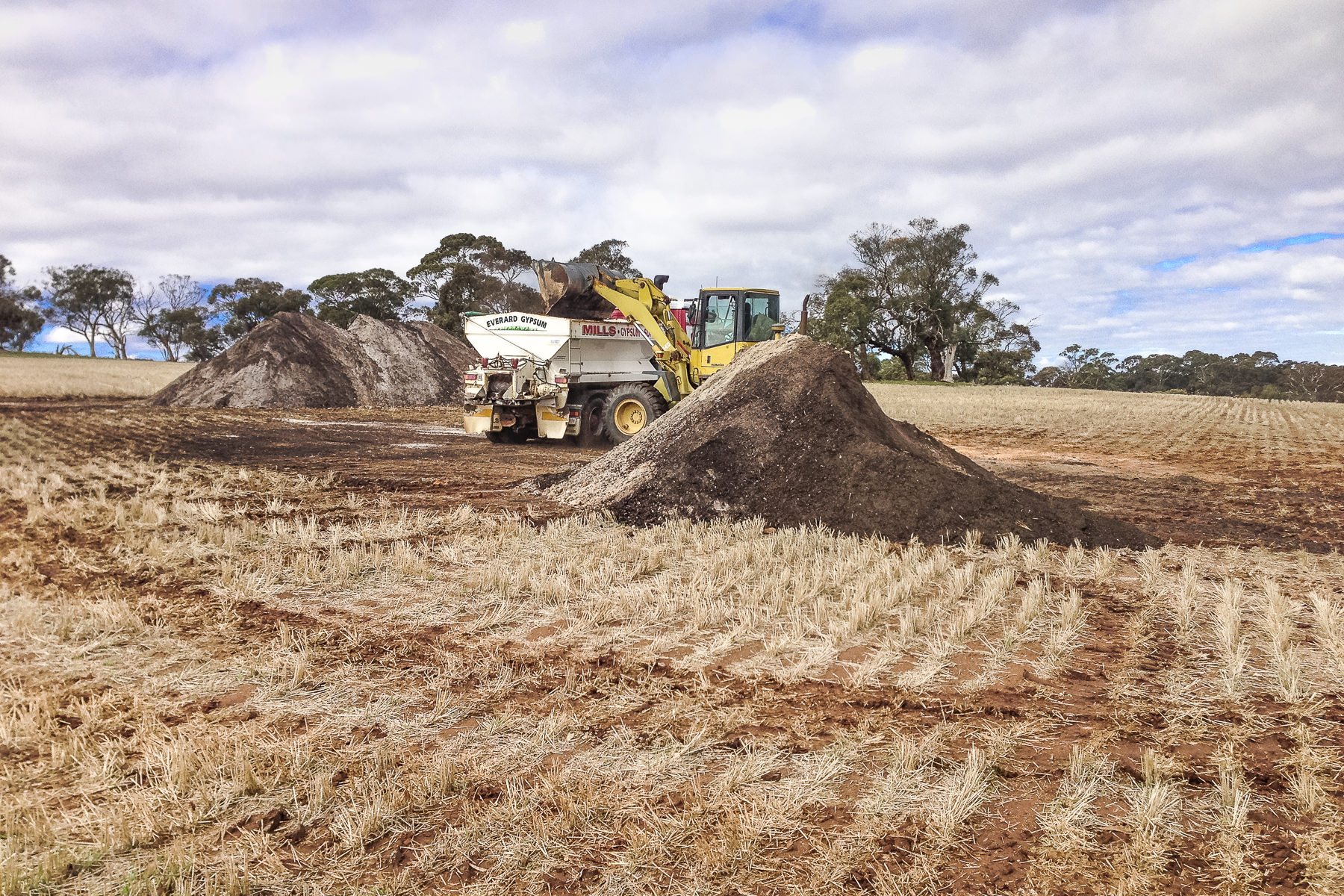 Preparation and mixing of soil treatment