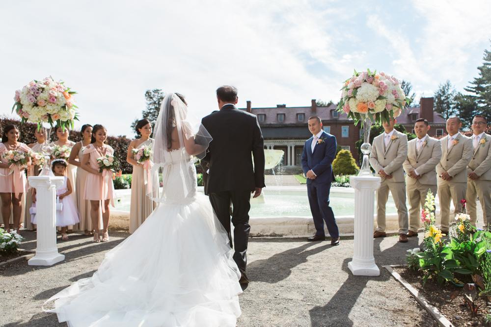 elm-bank-garden-wedding-walking-down-isle