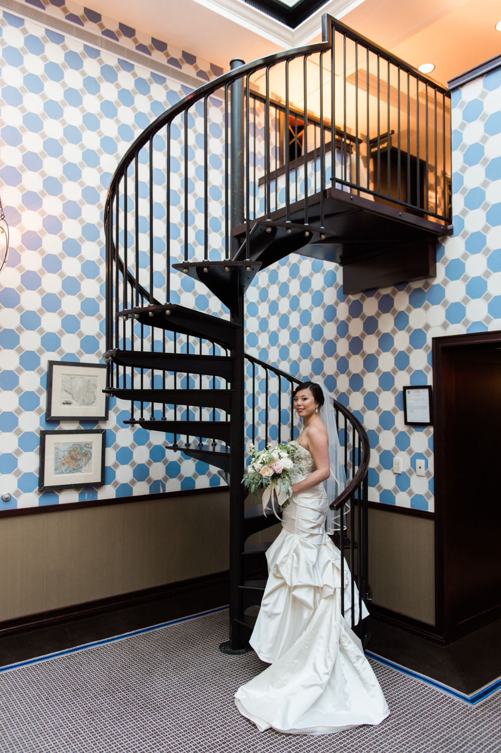 Liberty Hotel Wedding Photography kenneth pool gown