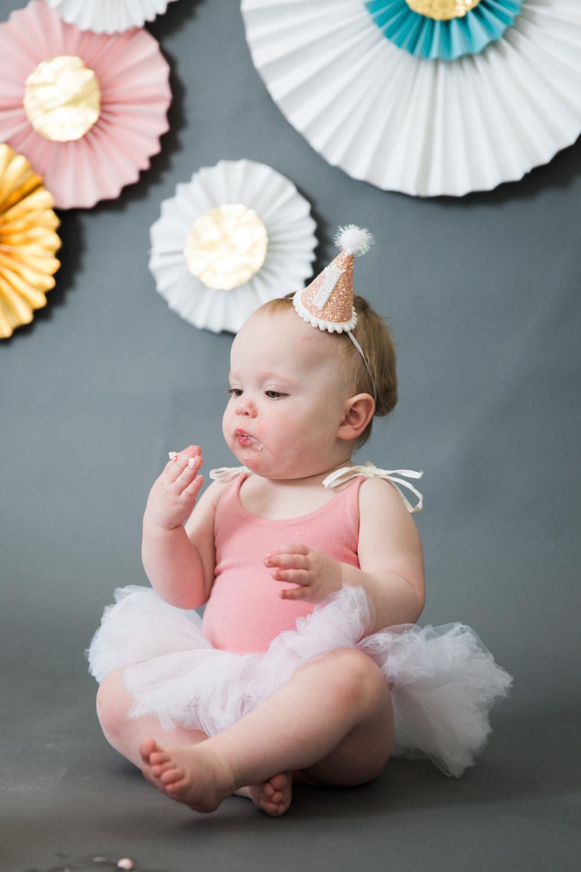 First Birthday Cake Smash Baby Boston