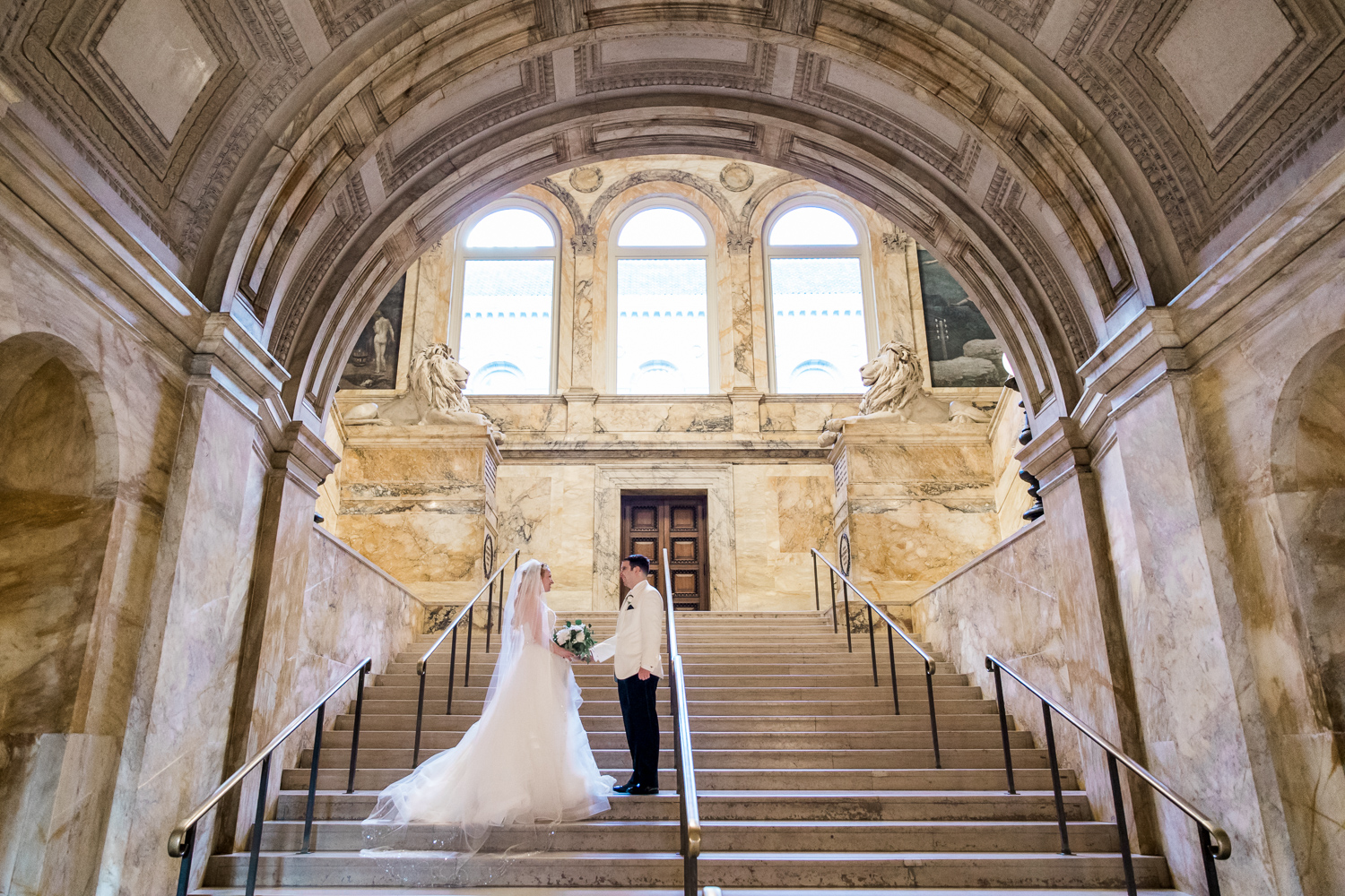 boston public library wedding photos