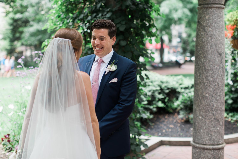 post office square wedding photos