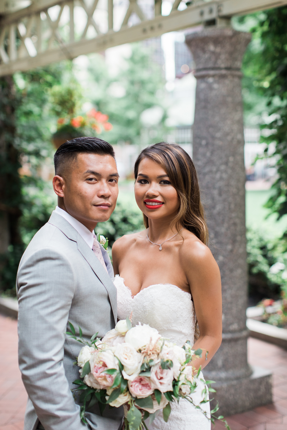 Post office square boston vietnamese wedding photos