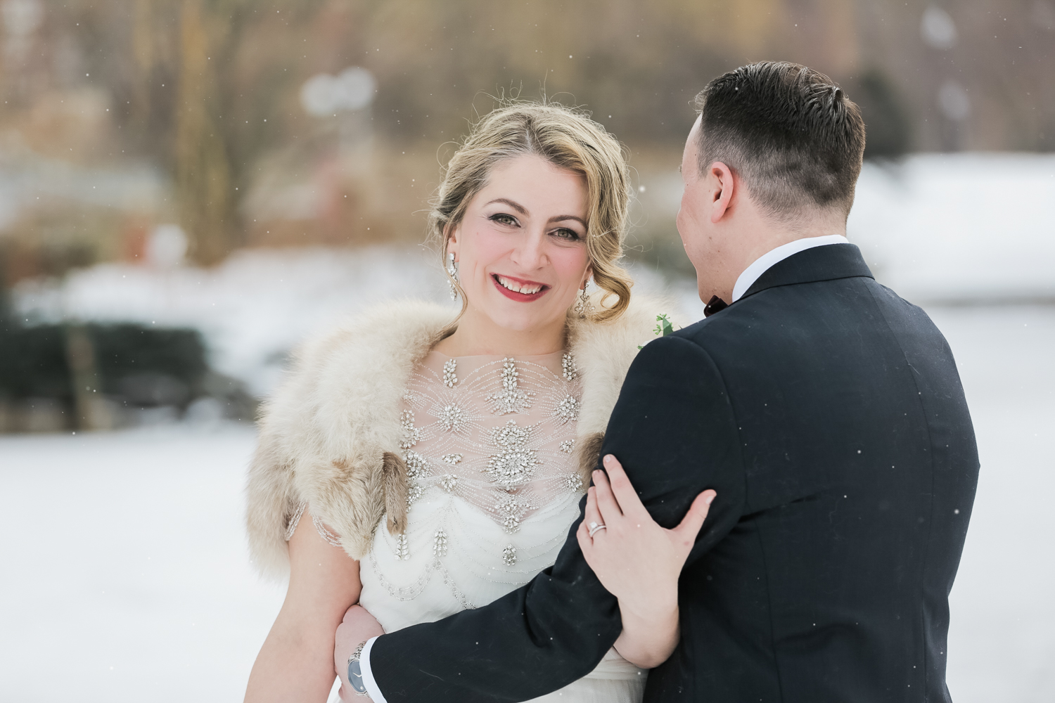 Hampshire House Boston Winter Wedding Photos