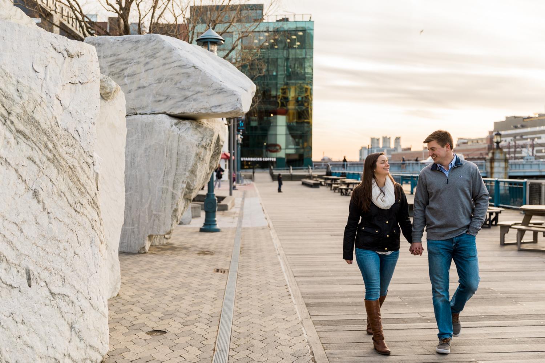 Seaport Boston Engagement Session Photos
