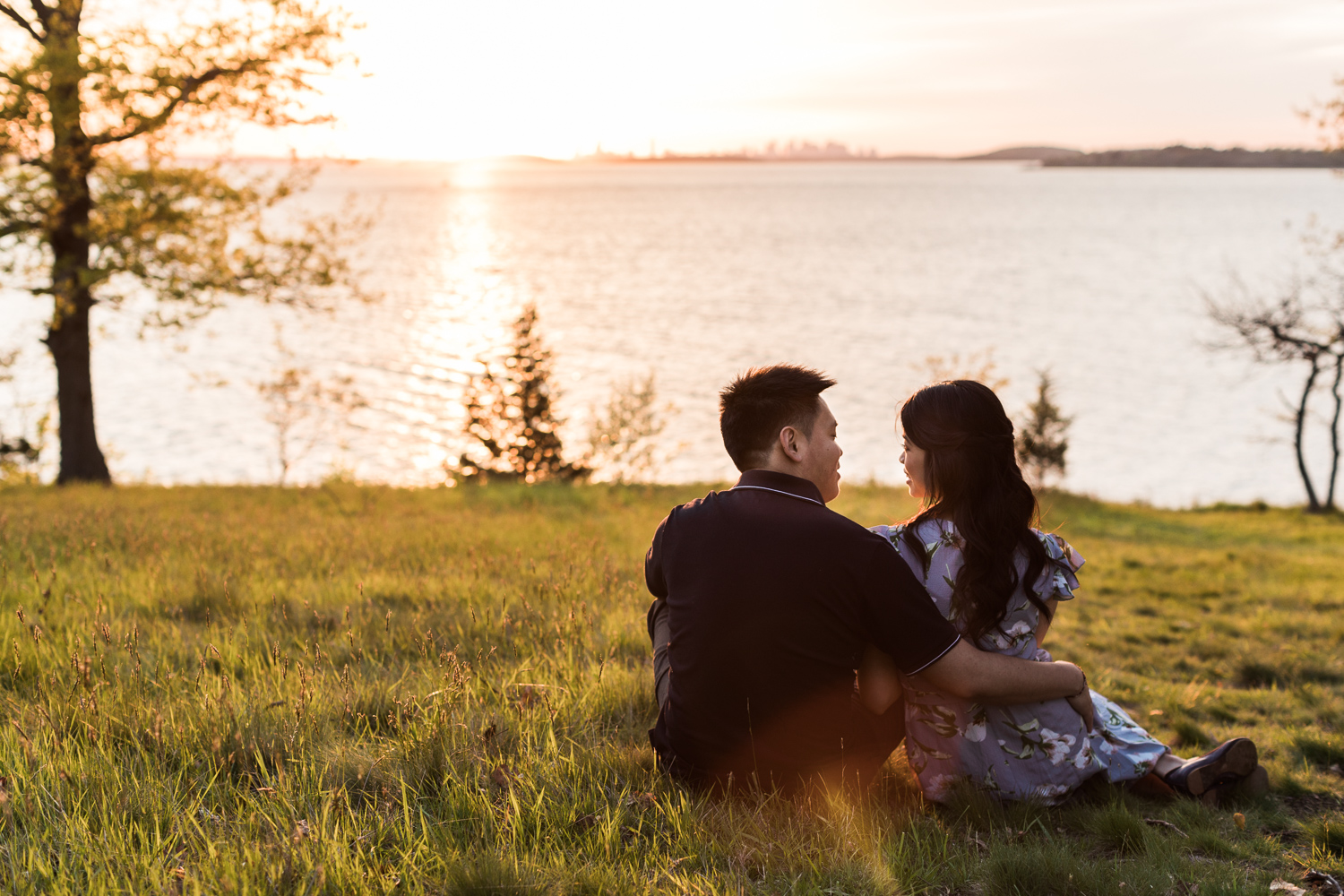 World's End Engagement Photos Sunset