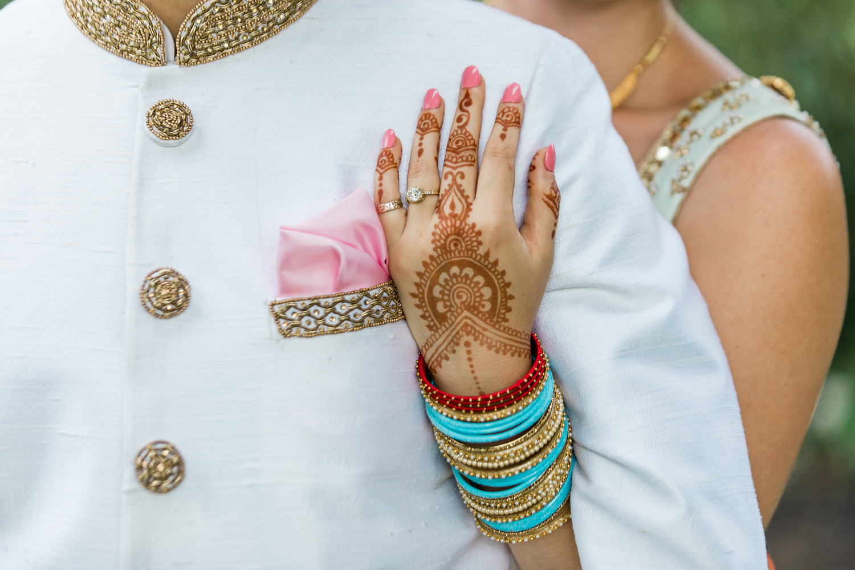 Mehndi design on bride