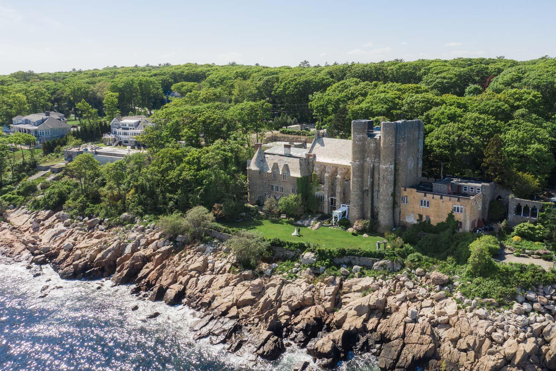 Hammond Castle Wedding Drone