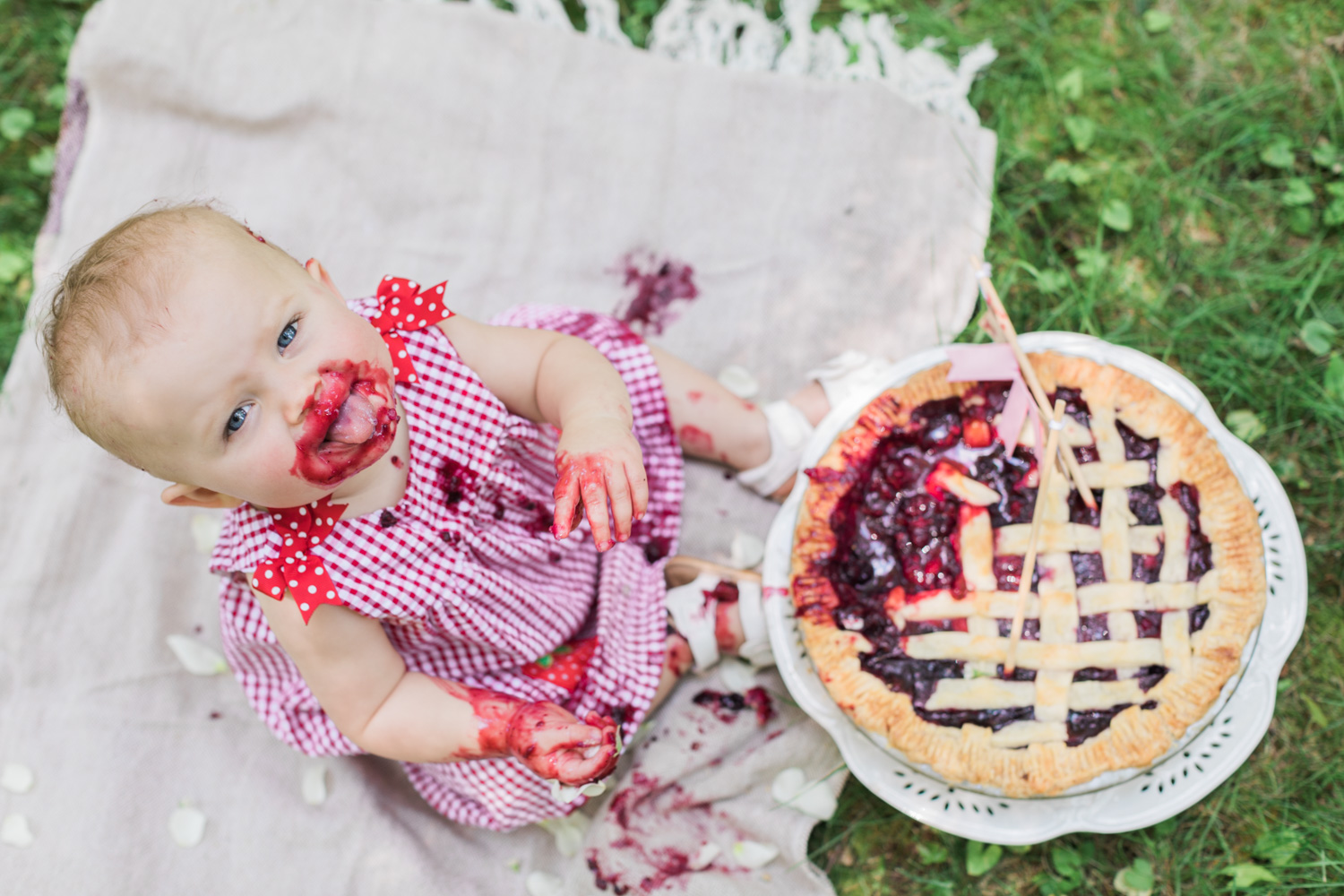 Mia's 1 Year Old Pie Smash — Lovely Valentine