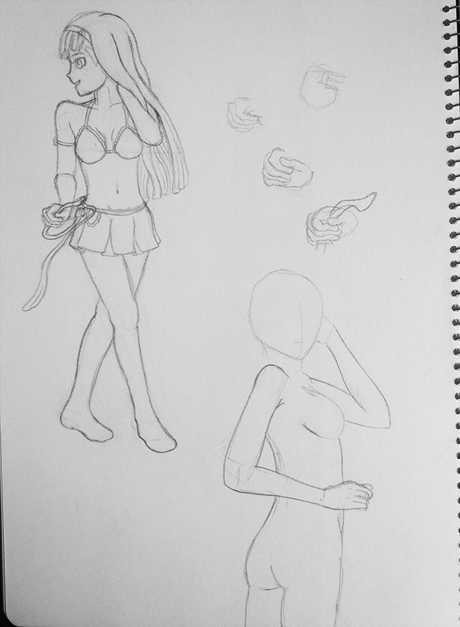Think I was having my first go at an anime style, no idea what it is shes holding in her hand....some for m of stethoscope I think?