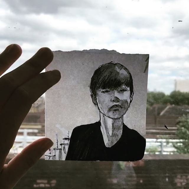 Hey @i.hopeyouarewell your selfie brightened up my morning this morning. I forgot my post it notes so you're doodle is on a scrap of paper ha ha ha