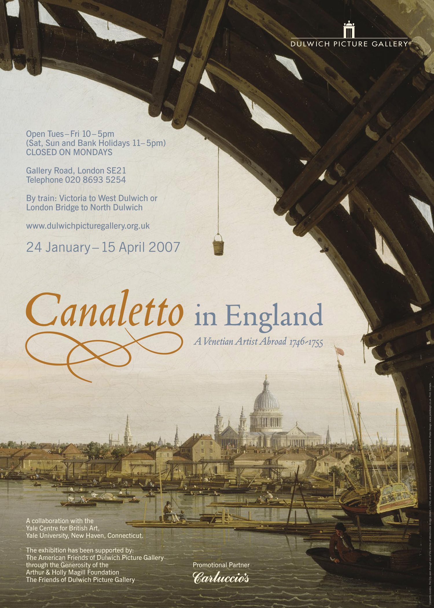 Canaletto in England  sales poster