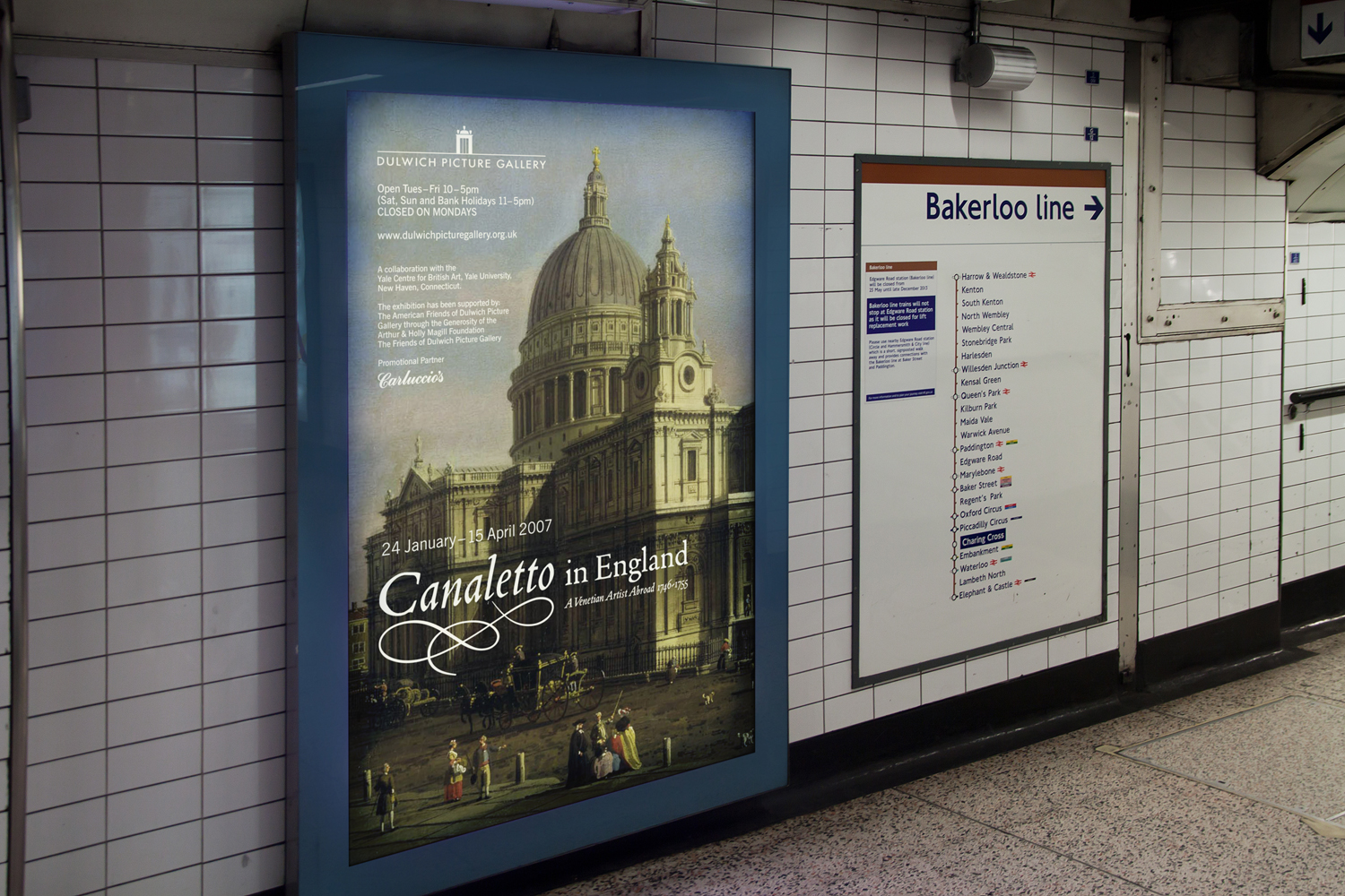 Canaletto in England  underground poster