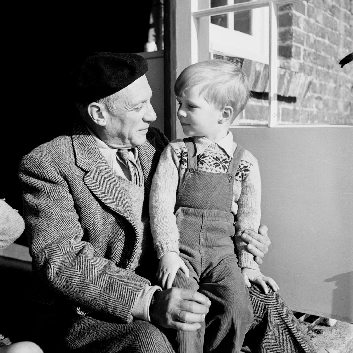 Picasso and Antony Penrose by Lee Miller © Lee Miller Archives, England.