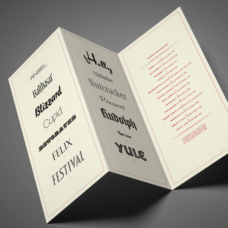 A seasonal font selection