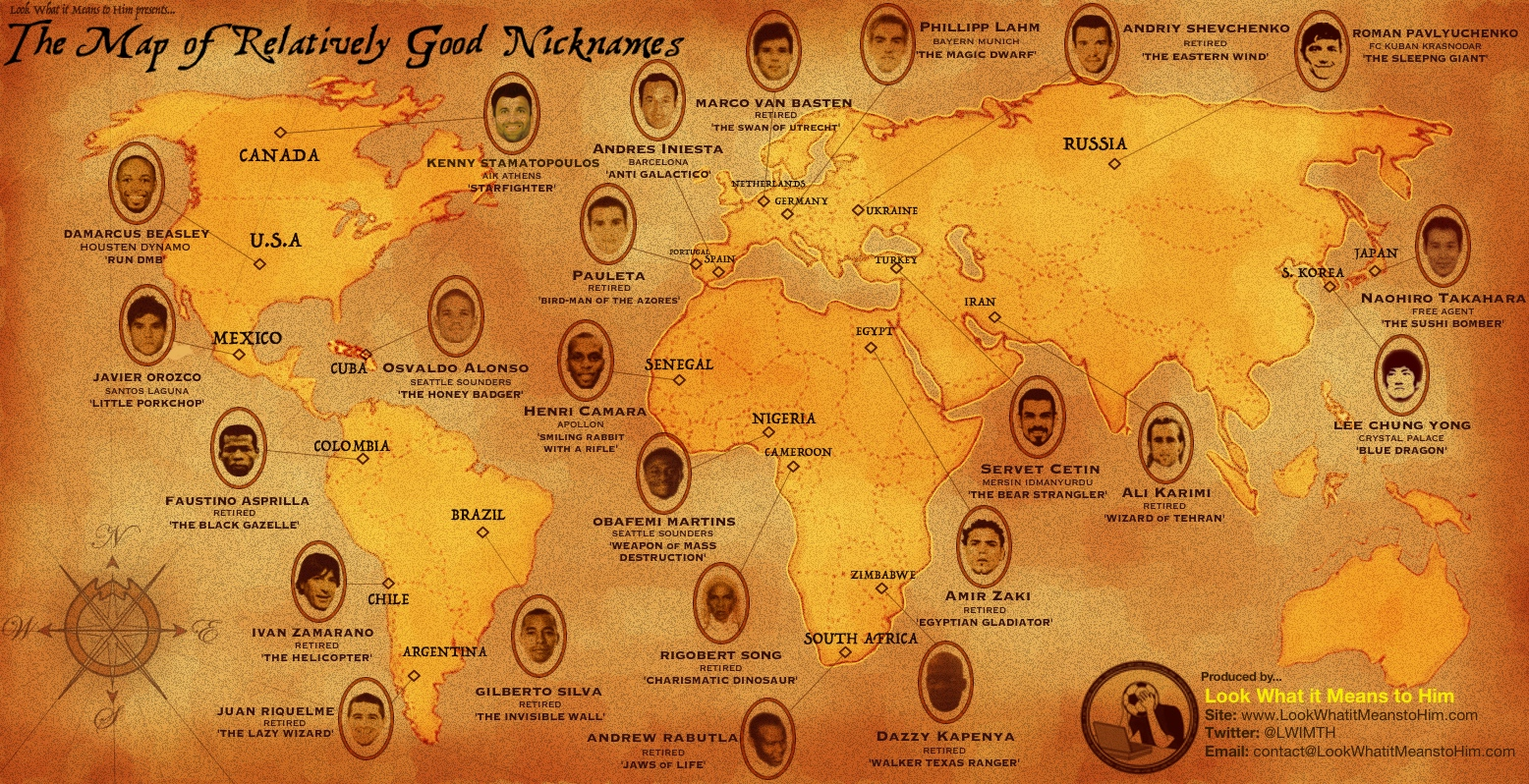 Look What it Means to Him's Nickname Map
