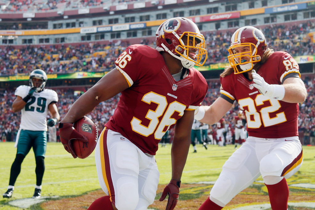 Fullback Darrel Young (left) and tight end Logan Paulsen (right) are both undrafted players making major contributions for the Redskins