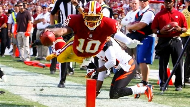 Robert Griffin III accounted for over 4,000 yards of total offense and 27 touchdowns in '12 en route to winning the NFL Rookie of the Year honors