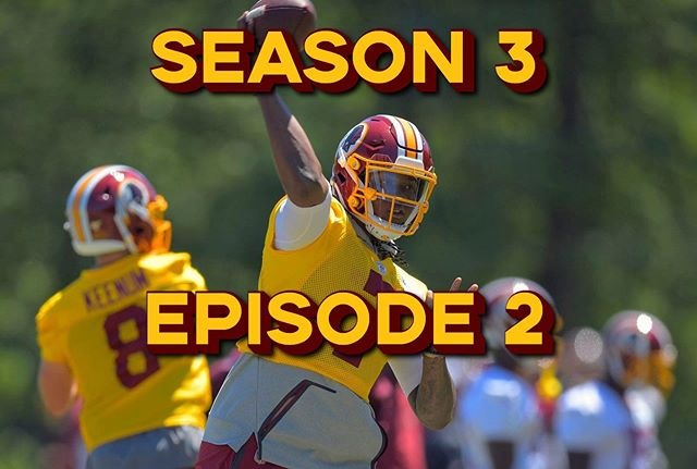 🚨NEW POD🚨S3/E2: Ten Training Camp Questions, Part 1. The guys run through five burning questions leading into #Redskins training camp, including Dwayne Haskins chance of starting, whats up with Trent Williams, who will step up at the X receiver, Derrius Guice's health and who will step up at middle linebacker.  Link in the bio!  #HTTR #HailToTheRedskins #Instagram #WashingtonDC #DMV #Ashburn #Richmond #RedskinsRally  #BurgundyAndGold #NFCEast  #RedskinsLife #Football #Redskins2019