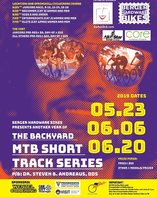 SHORT TRACK! Save the dates! Zoom in or hit the website for deets - link in our bio. See you on Dorsett Drive next week for noche numero Uno