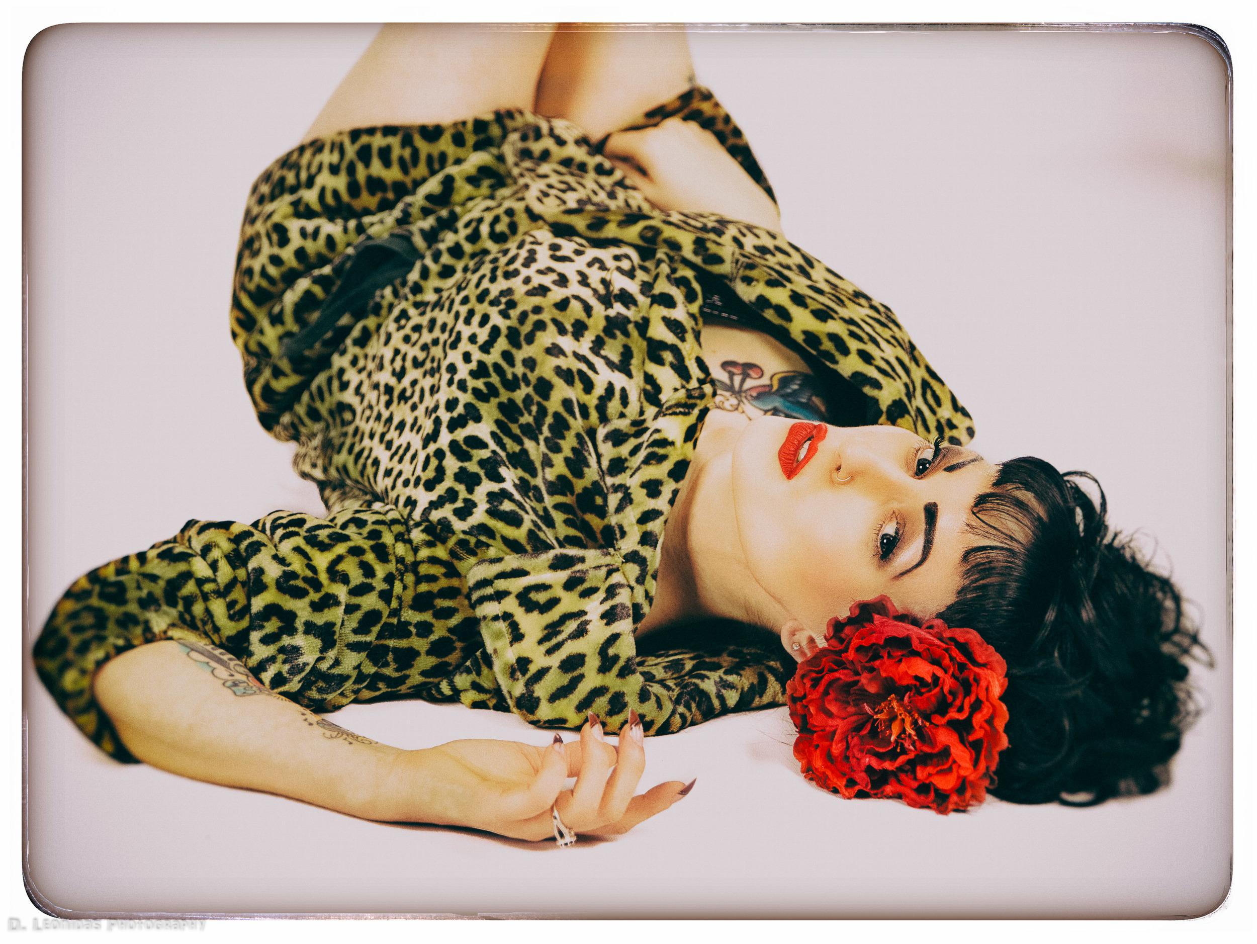 Lisa Leopard Image with Amanda Fox Styles MUA