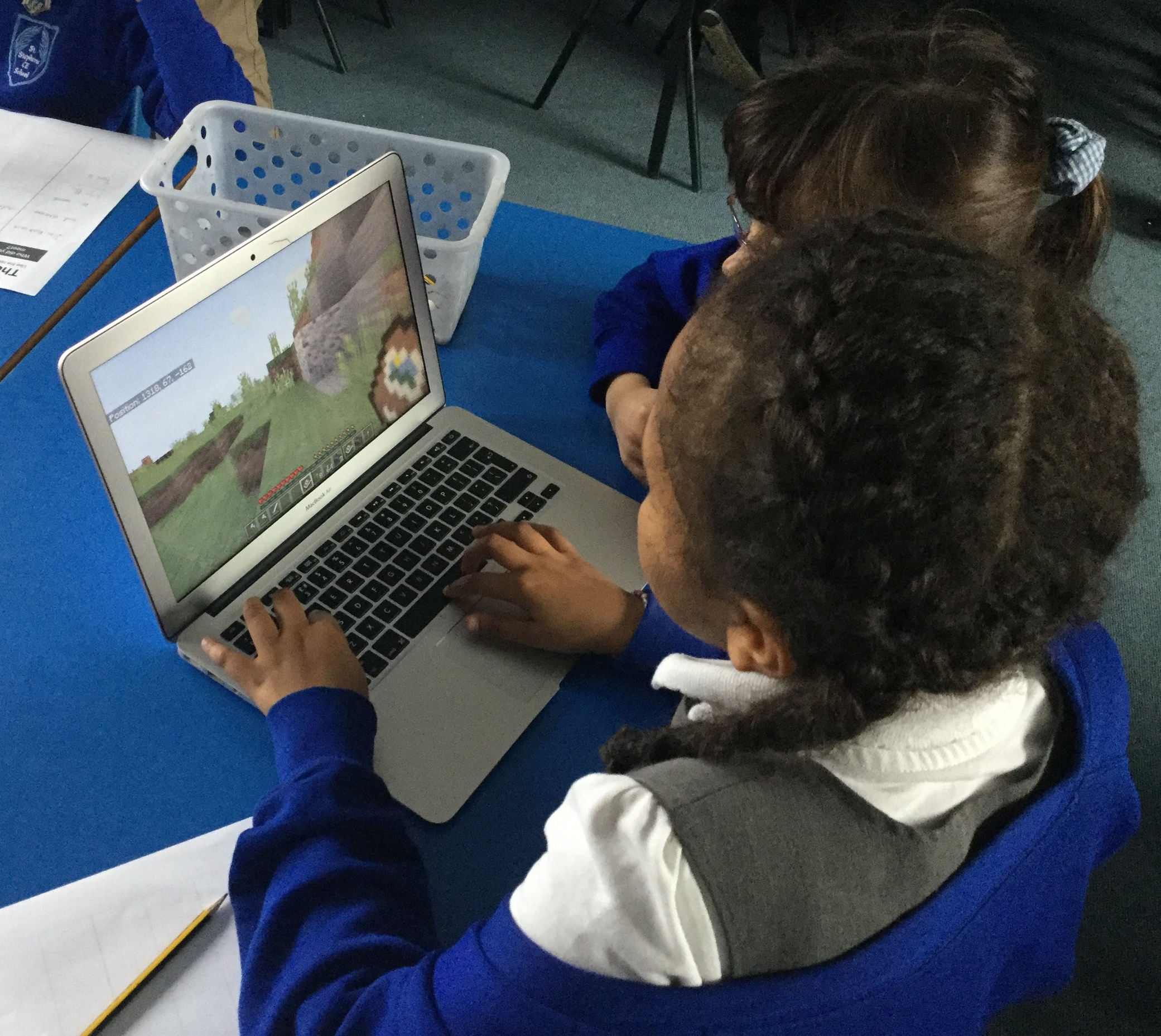 Children worked together to explore the world and investigate the exploits and whereabouts of the dragon.