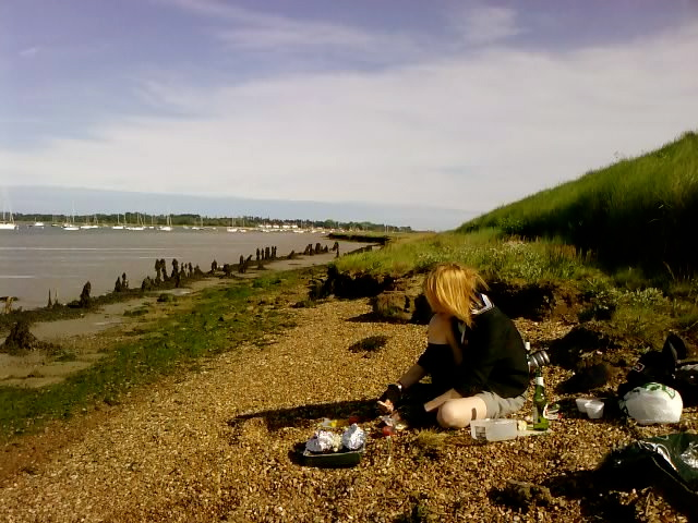 2012 -- Haphazardly Grilling Trout, The River Deben, UK