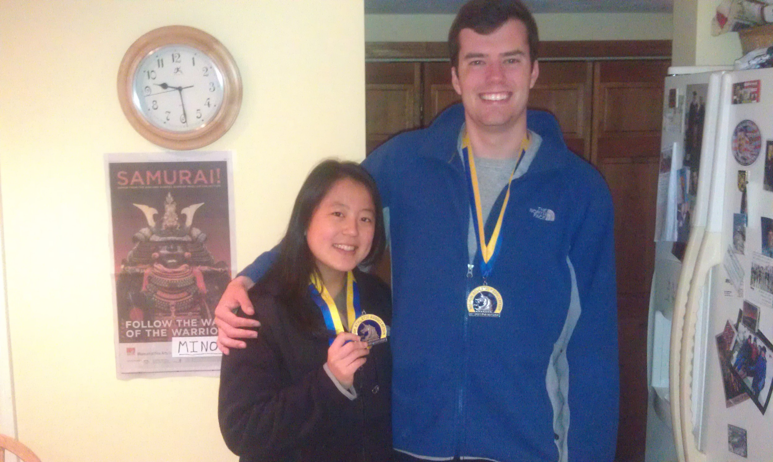 Minori and Matt with their Medals
