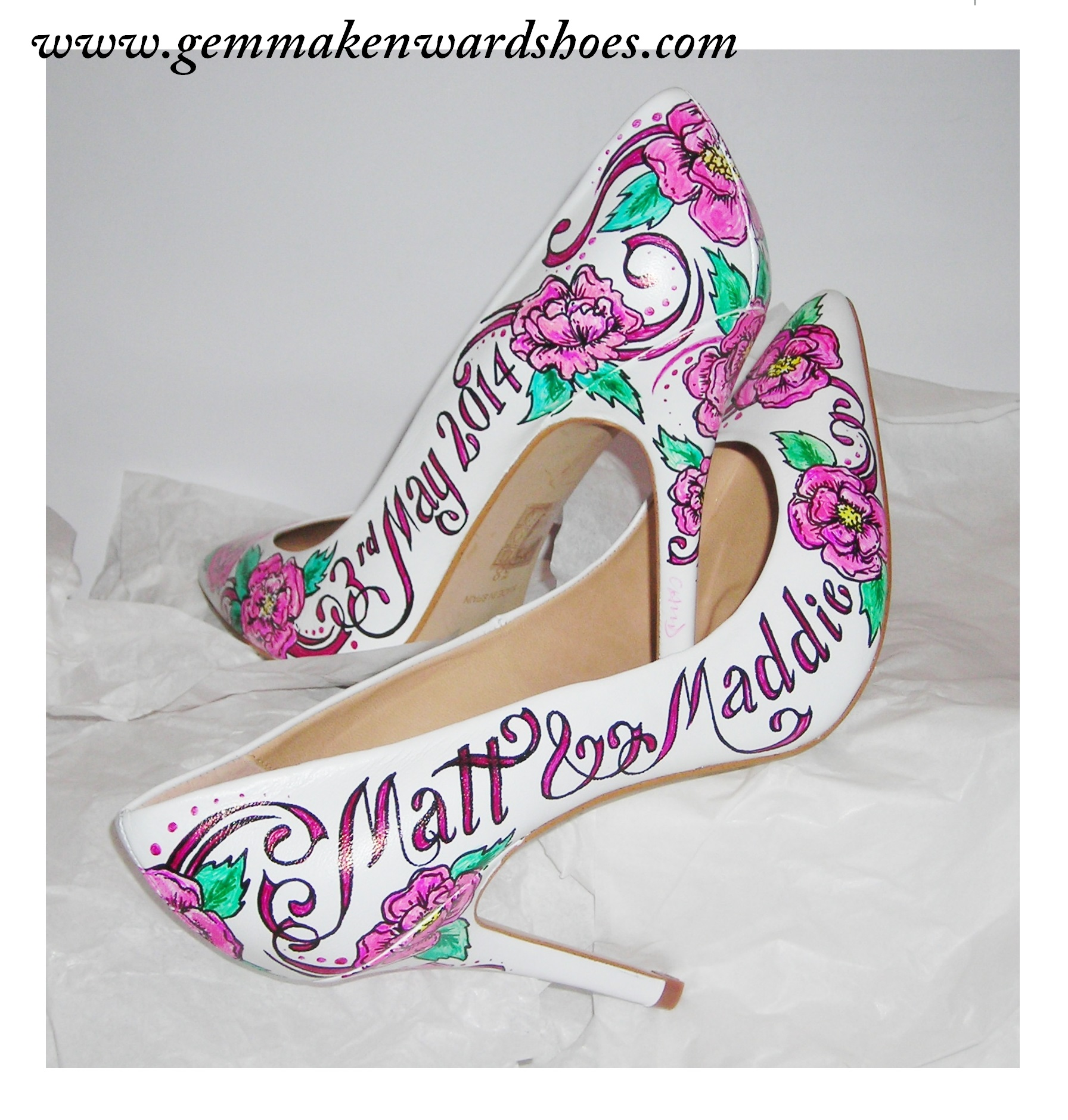 Floral Wedding Shoes for Matt and Maddie