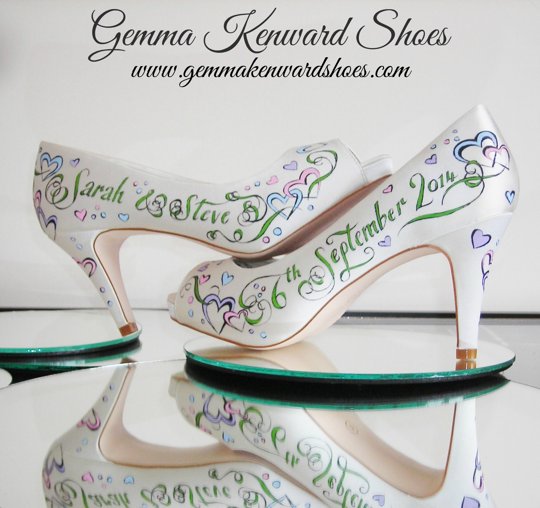 Sarah and Steves hand painted wedding shoes.JPG