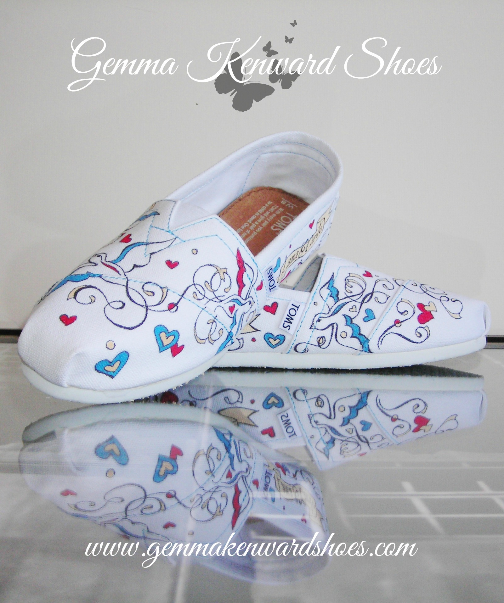 hand painted wedding flat shoes toms.JPG