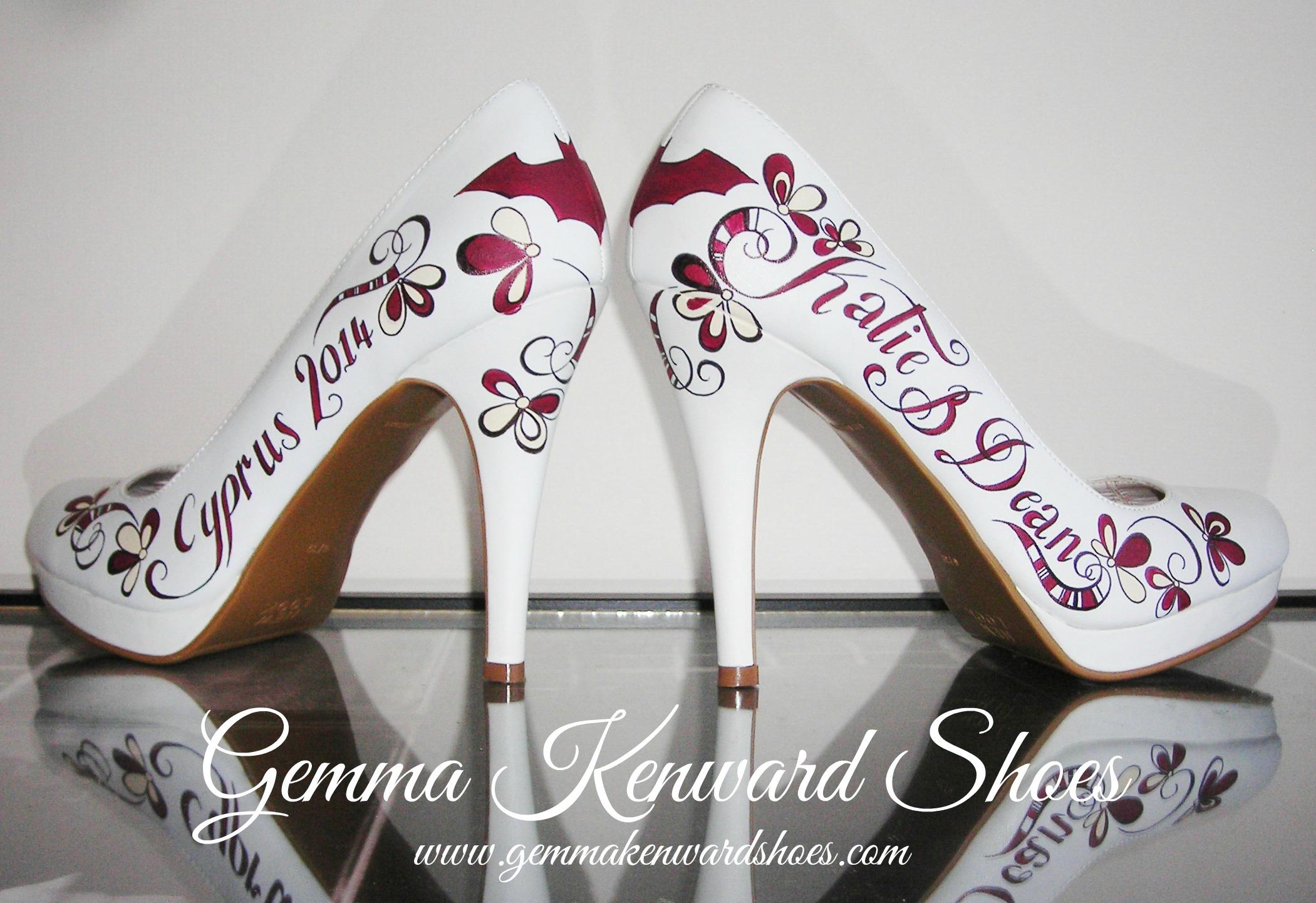 Custom painted wedding batman shoes.