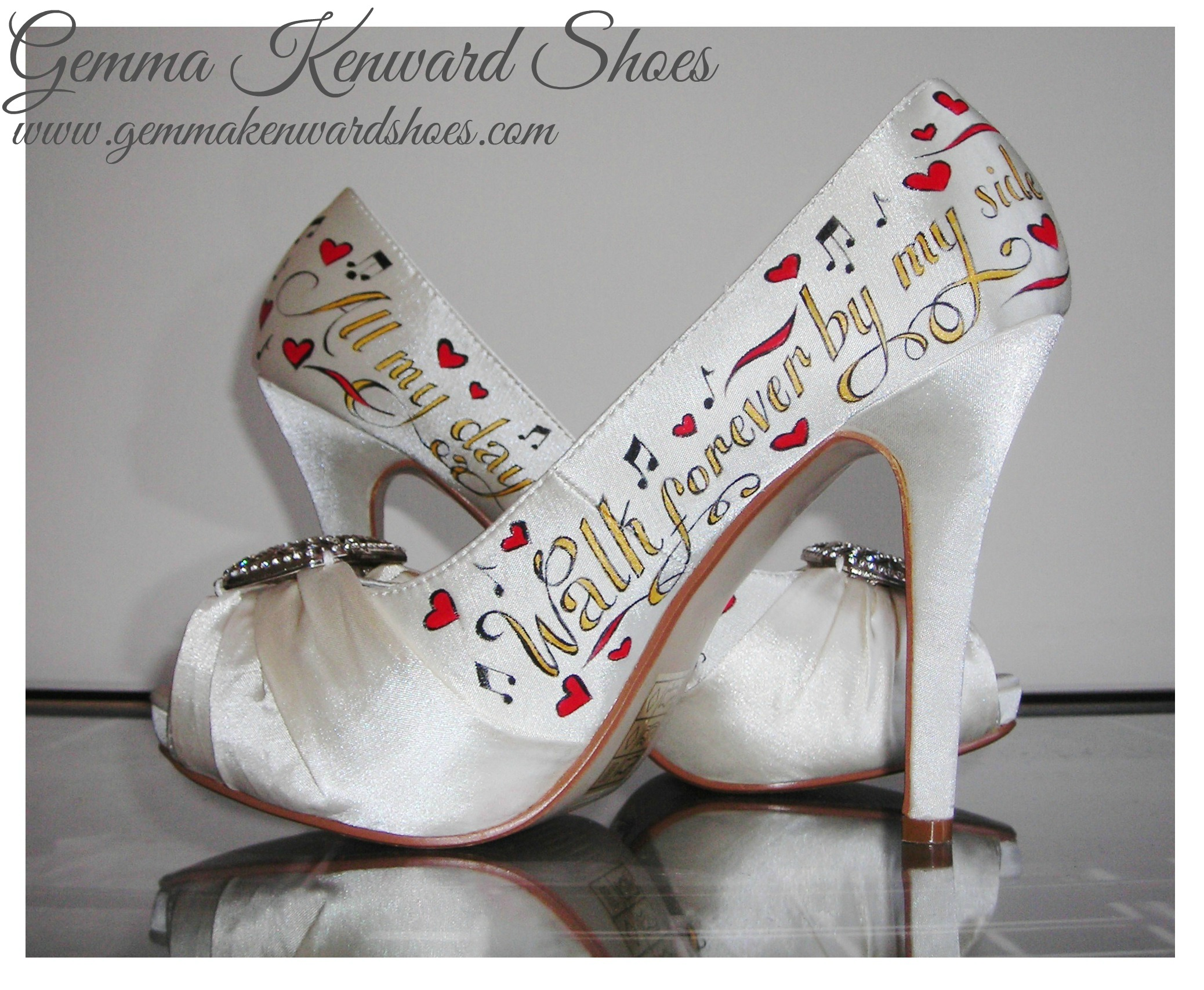 customised gold and red painted wedding shoes.JPG