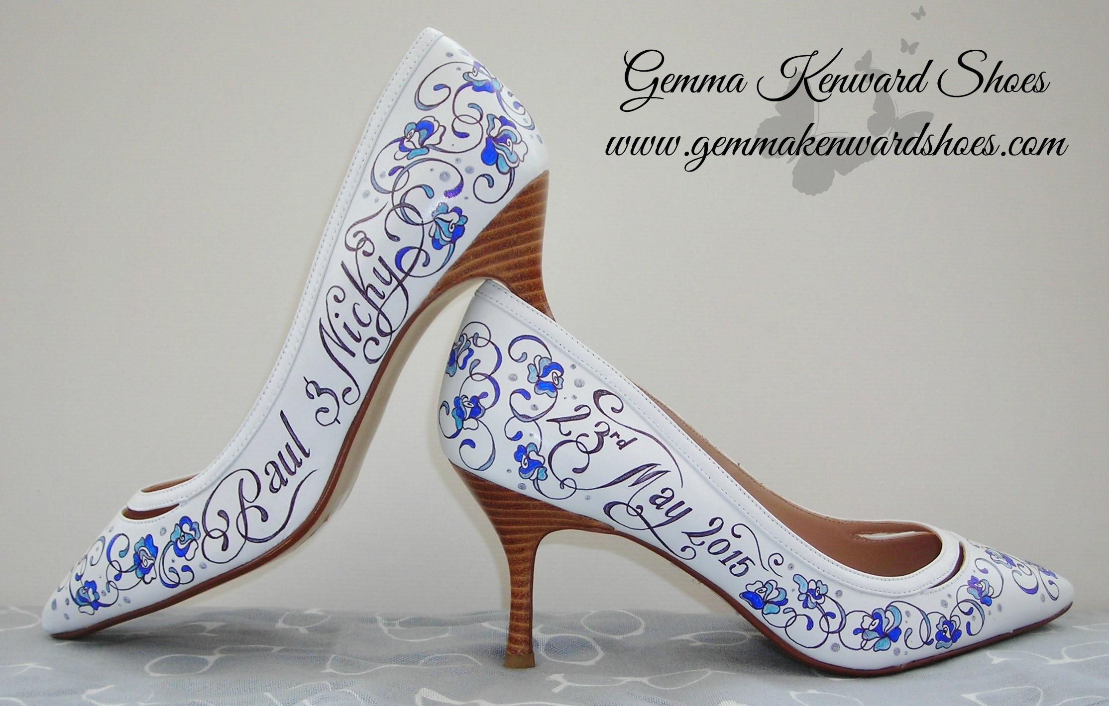 personalised hand painted wedding shoes .JPG