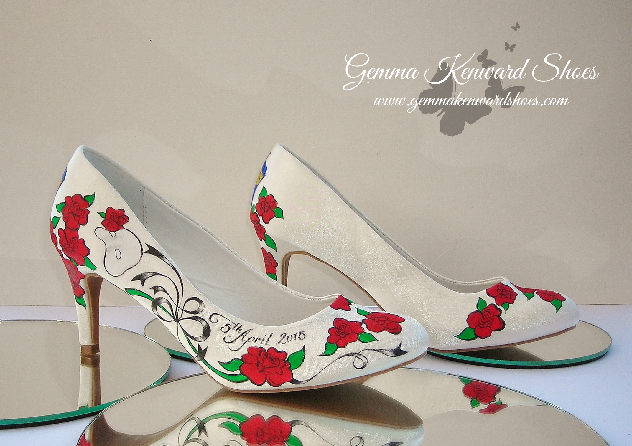 Customised Doctor Who and Phantom of the Opera Wedding Shoes.