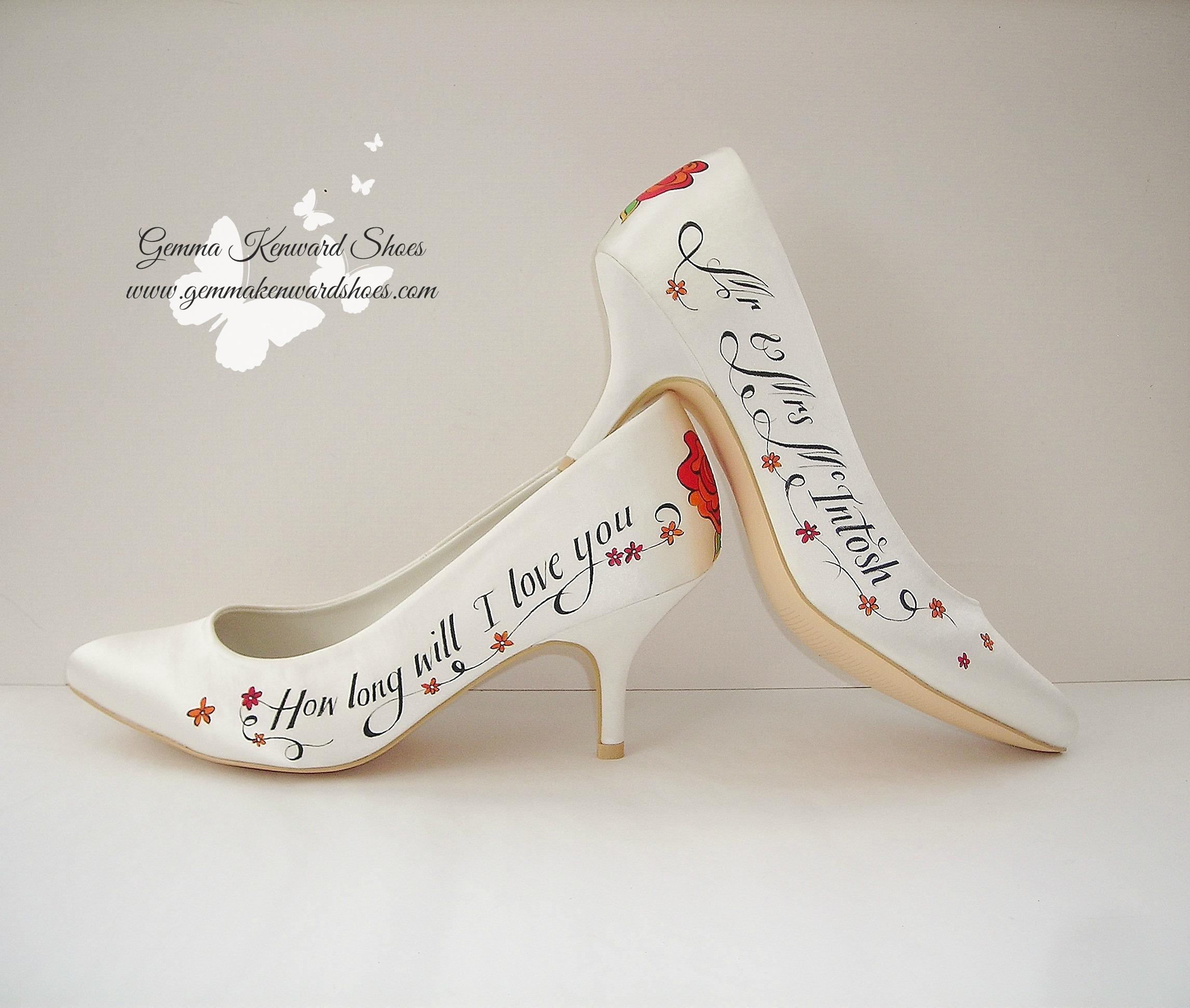 Personalised rose wedding shoes.JPG