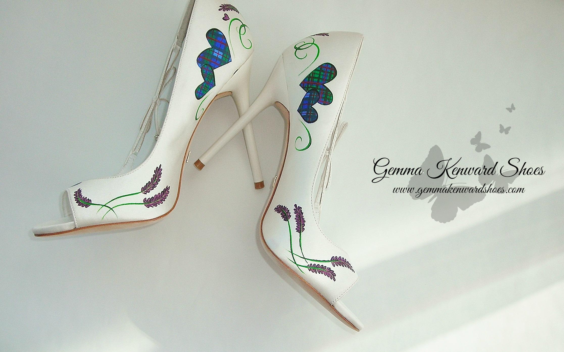 customised purple tartan brides shoes .jpg