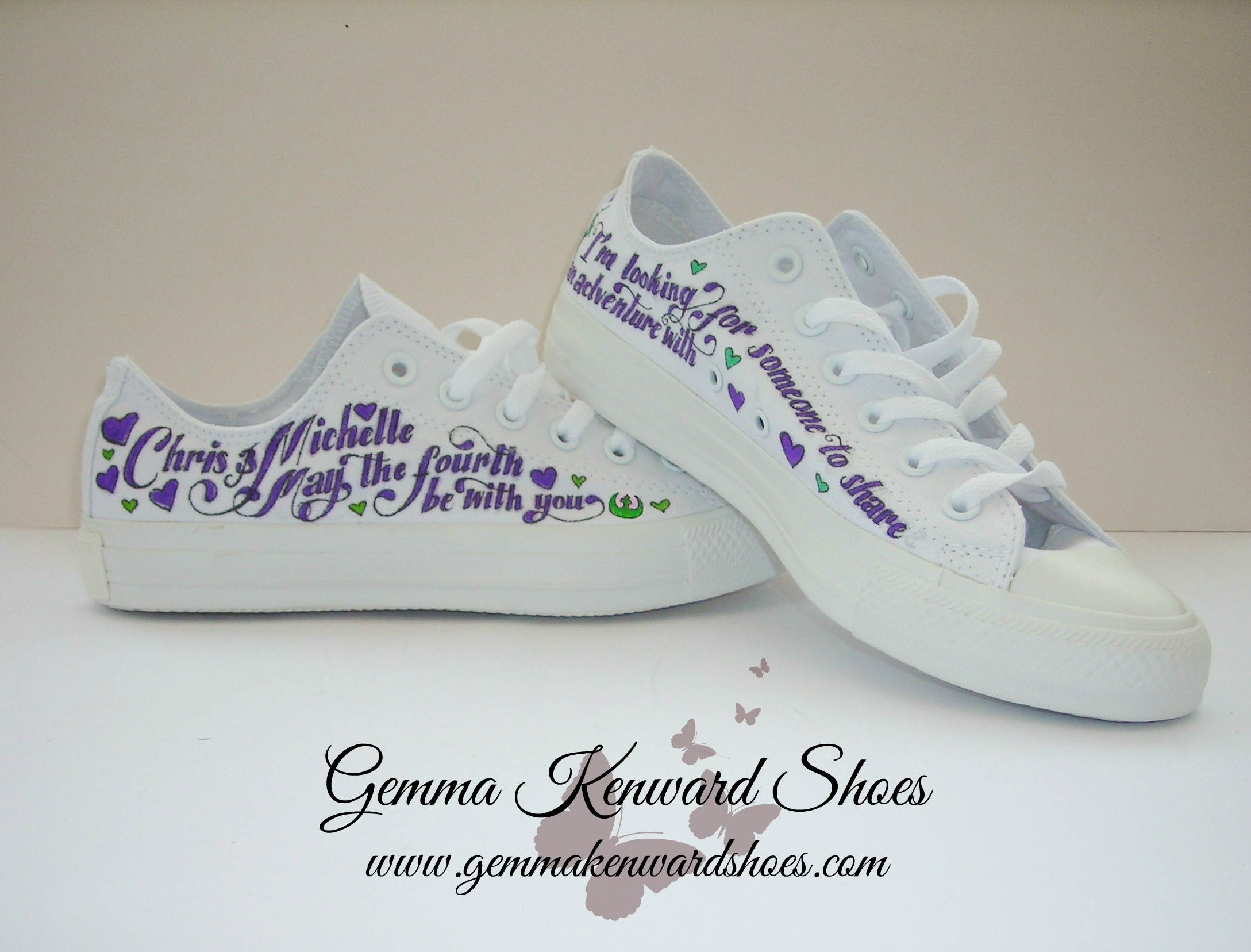 Hand Painted Star Wars theme wedding shoes