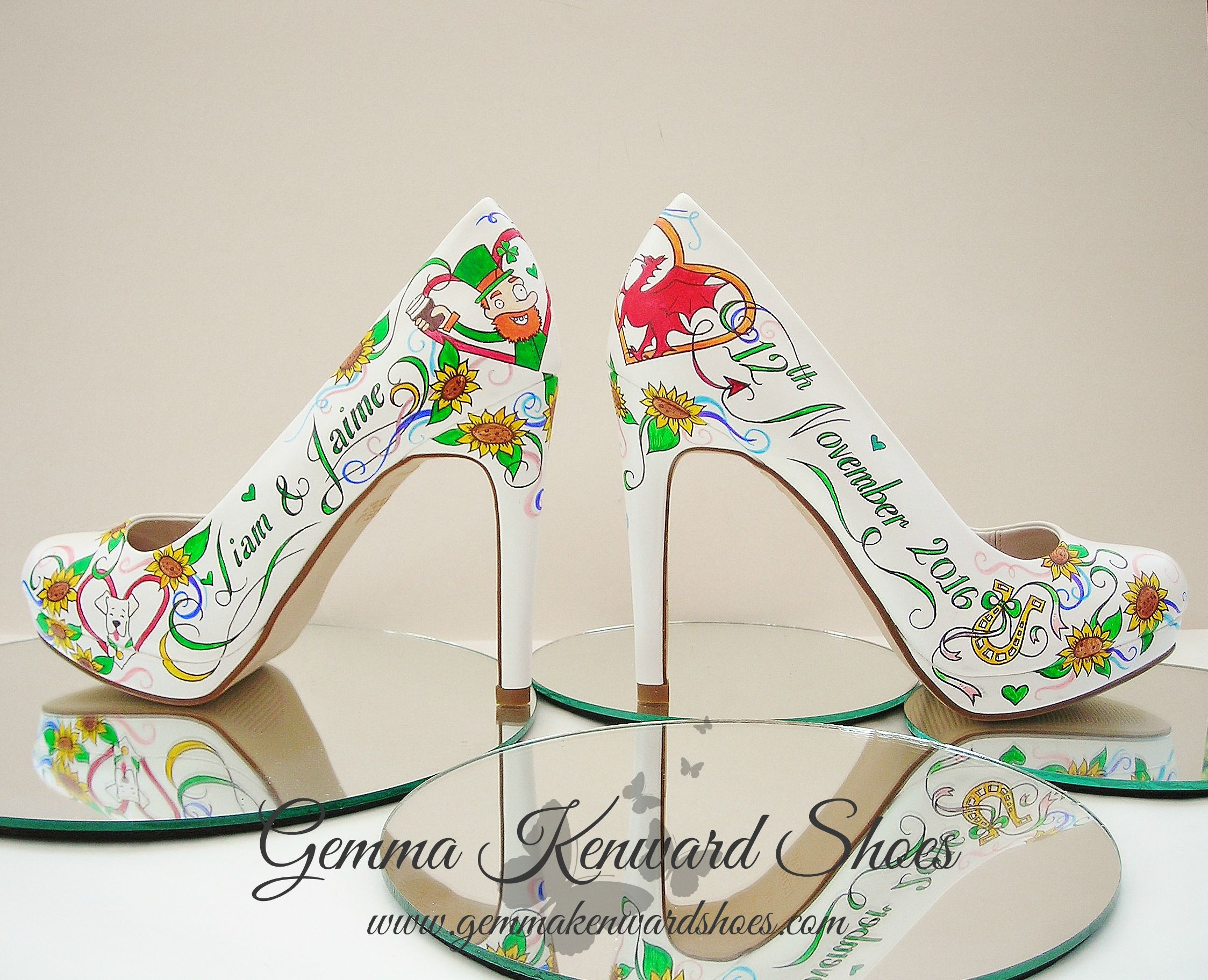 Custom Painted Brides Shoes