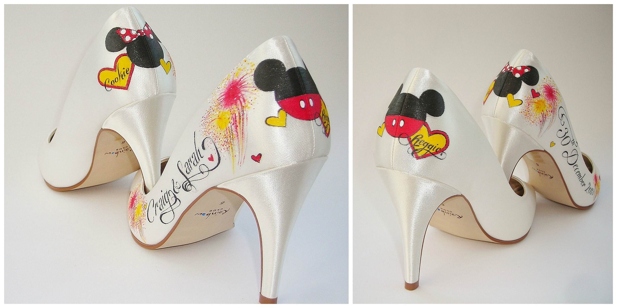 Personalised Disney Bridal  Shoes