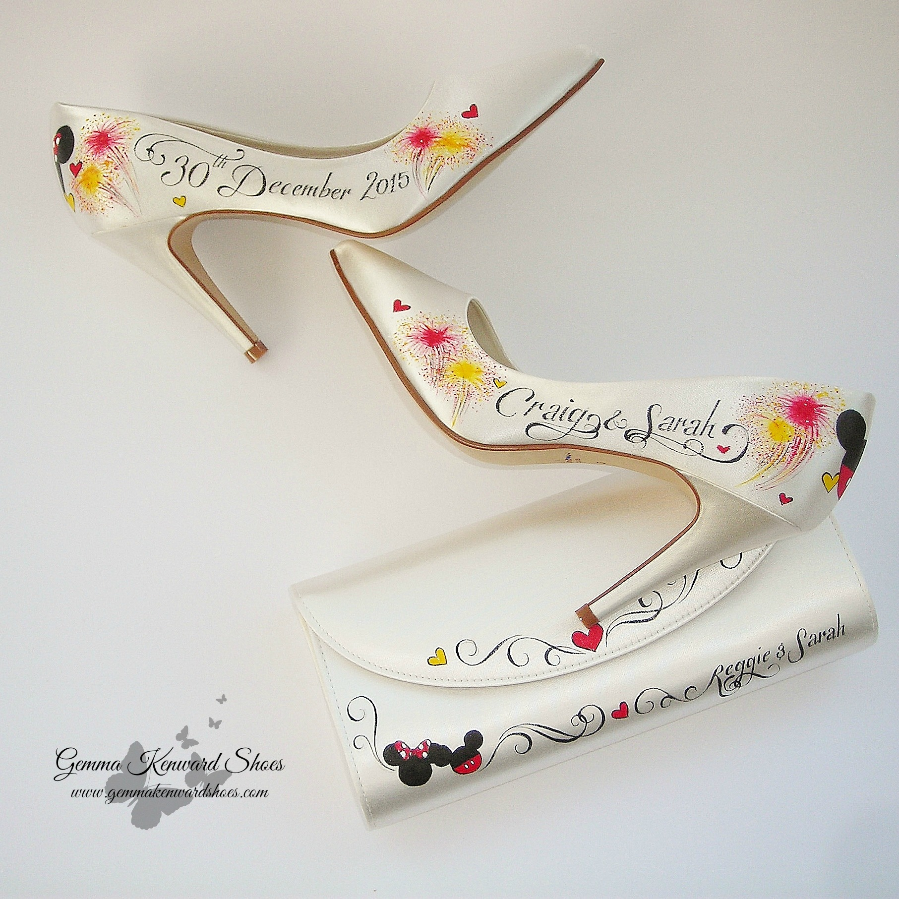 Hand Painted Wedding Bridal Shoes